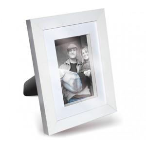 Porta Retrato Moldura Branca 1800 com passepartout e rebaixo